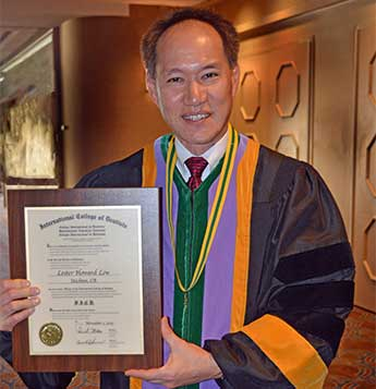 Dr. Low - Fellow in the International College of Dentists